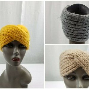 Knitted Headbands Ear Warmers Twist Crochet Set 3
